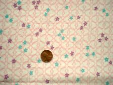 GEOMETRIC Full Vtg FEEDSACK Quilt Sewing DollClothes Craft Fabri PinkPurpl