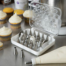 Ateco Wilton Cake Desert Pastry Decorating Tips w/ Case 782 29 Pc Set New Sealed