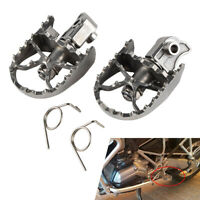 1 Pair Foot Pegs Footests Stainless Steel For BMW F650GS G650GS F800GS F700 F600