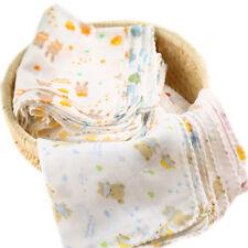 8Pcs Baby Infant Newborn Washcloth Bath Towel Bathing Feeding Wipe Soft Cloth