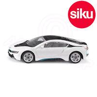 SIKU 1458 BMW i8 Eléctrico Coche deportivo en blanco + Negro - Detallado