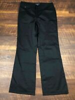 Banana Republic HARRISON Black Wide Leg sz 10 Career Women's Casual Dress Pants