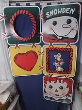RARE 1998 Raggedy Ann & Andy Snowden Target Advertisement Poster Wall Hanging