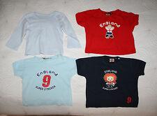 Paquet de 4 bébé garçon été top/t-shirt SZ 6-12 MNS