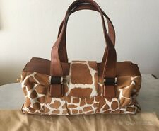Authentic hand bag purse pony hair and leather giraffe print SERGIO ROSSI