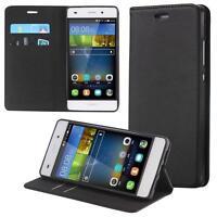 Funda-s Carcasa-s para Huawei P8 Lite Libro Wallet Case-s bolsa Cover Negro