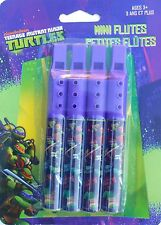 Party Favors TM NINJA TURTLES Dk Purple Mini Flute Birthday Loot Bag Filler 4 Pk
