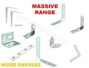 L Shape Brackets Mending Plates Heavy Duty DIY Cupboards Shelves Frames fixing
