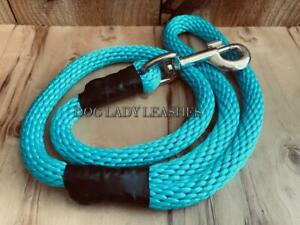 """TRAFFIC/SHORT SNAP LEASH-UP TO 120 LBS-1/2"""" X 30"""" LONG TURQUOISE -NEW- (555)"""
