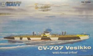"Finnisches U-Boot ""CV-707 Vesikko"", Special Navy, 1:72, Plastik, NEU !"