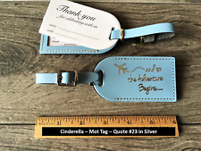 25  Cinderella blue  WEDDING, BONDED LEATHER Luggage Tags $ 3.65  (style mot)