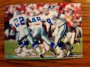 Emmitt Smith Troy Aikman Cowboys Football 4x6 Game Photo Picture Card