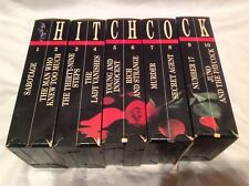 Alfred Hitchcock VHS Movies Set of 10 - HORROR Vintage Murder-Secret Agent Ext.