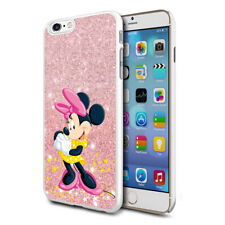 Glitter Effect Disney Minnie Hard Case Cover For Samsung Apple Huawei HTC - 21