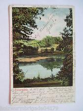seltene alte AK Stettin Pommern Buchheide Bukowa Pulver Mühle gelaufen 1902