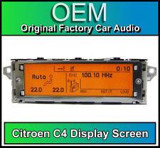 Citroen C4 display screen, RD4 radio LCD Multi function clock dash