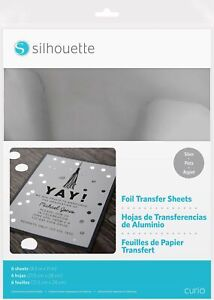 "Silhouette America Silhouette 8.5""X11"" Foil Transfer Sheets 6/Pkg, Silver"