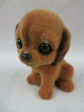 "Vintage Retro Flocked Puppy Dog By Josef Originals 3""1/2 Tall"