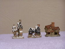 DAVID WINTER ORNAMENT COTTAGES  Fred's Home - Tudor - Tomfool's  Lot of 3
