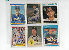 Lot of 12 autographed cards with damage