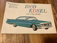 Original 1960 Edsel Full Line Sales Brochure Ranger Villager Ford Washington Pa