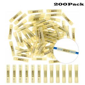 200X Heat Shrink Butt Wire Crimp Connectors Terminals Waterproof 12-10 AWG
