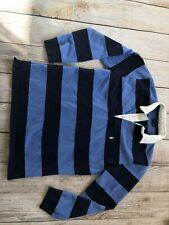 Polo by Ralph Lauren Rugby Shirt Long Sleeve Stripe Medium 12 14 Boys Blue