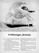 Old Print.  1961 Volkswagen Beetle - advertisement