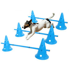 Set of 3 Dog Agility Equipment Jumps Kit Indoor Outdoor Pet Training Sets Course