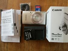 Canon Power Shot ELPH 180 Digital Camera Silver W/ Battery, Charger, 8 GB  Card