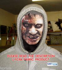 Scary Halloween Full Face Mask Zombie Bleeding Face Design Fabric Fancy Dress