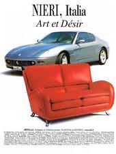 PUBLICITE ADVERTISING  2000   NIERI  art & désir  meubles salons mobilier
