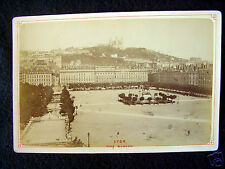 OLD ALBUMEN/CABINET CARD: LYON~PLACE BELLECUUR~ANIMATED