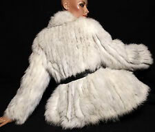 Blaufuchs Fuchs fox fur jacket Pelzjacke Jacke Pelz Vintage Joop Futter Gr. S-M