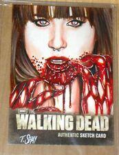 2012 Cryptozoic Walking Dead Season 2 sketch card Tim Shay FEMALE WALKER 1/1