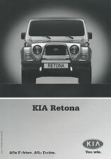 "Kia retona lista de precios 1.9.00 Price List"" 2000 auto automóviles precios corea asia asia"