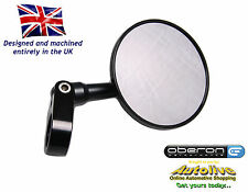 "Oberon Black 75mm billet 7/8"" handlebar clamp mirror - MIC-7578-BLACK"