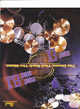 VINTAGE MUSICAL INSTRUMENT CATALOG #10561 - 1986 PEARL DRUMS  -EXPORT SELECT ELX