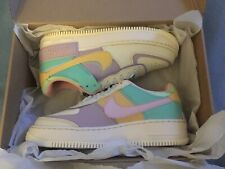 Authentic Nike Air Force AF 1 Shadow Shoes Pastel Pale Ivory UK 7.5 CI0919-101