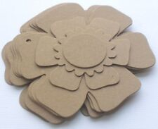 FLORAL CHiPBOARD ALBUM KIT -  Flower Pages Raw Bare Unfinished Die Cuts