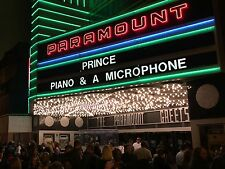 Paramount Theater Marquee Prince Piano and a Microphone 8 x 10 Photograph