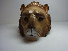 Antique German Porcelain Candy Container Lion Head #^