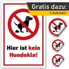 Kein Hundeklo Hundetoilette Schild Privatgrund Hinweis Verbot Hartschaumplatte