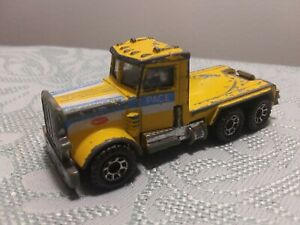 Vintage 1981 Matchbox Peterbilt Quarry Truck, Missing Dump Piece, Used, LOOSE