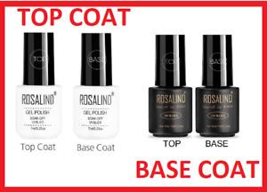 Top Coat and Base Coat Nail Gel Polish Professional UV LED Gel UK STOCK FREE P&P