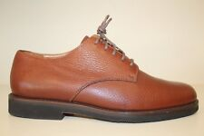 Lands End Mens Oxford Shoes Sz 9 M Brown Pebbled Leather Lace Up Casual Dress