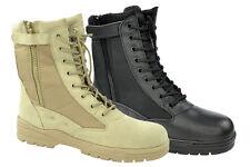 Army Kampfstiefel Patriot Boots Stiefel mit BW Reißverschluß Springerstiefel NEU