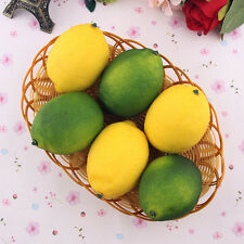 1/6Pcs pcs Limes Lemons Decorative Plastic Artificial Fruit Imitation Fake Uylj