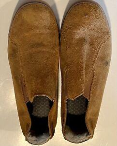 UGG Slip On Loafer Lined Chestnut Brown Men's 9.5 Shoes EUC