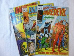 Daredevil #62, 74 and 76. Lot of 3